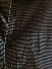 RVCA Slim Fit Men's Button Down Shirt BLACK GRAY PIN striped SIZE XL Extra Large