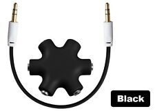 6-Way 3.5mm Stereo Audio Splitter HUB Headphone for iPod MP3 MP4 Mobile Phone