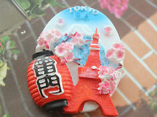Japan Senso-Ji Tokyo Tower Tourist Travel Souvenir 3D Resin Fridge Magnet Cute