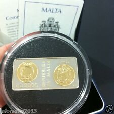 2000 Malta Millenium Coin Silver & Gold Proof Coin Box And Certificate #0580