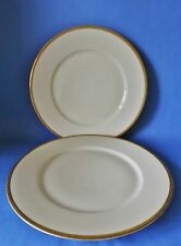 TWO BAVARIA - TIRSCHENREUTH PLATES - GILTED FINISH VERY GOOD CONDITION 245mm