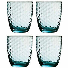 Set Of 4 Artic Blue Drinking Glasses Tumbler Mixer Glass Drink Christmas Gift