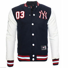 NWT New MAJESTIC Letterman NY Yankees Jacket Varsity Baseball Mens Size Large
