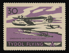 "TYDOL FLYING ""A"" POSTER STAMPS OF 1940 - #30, CONSOLIDATED PBY PATROL BOAT, NAVY"