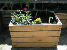 1 x PLANTER Vintage Rustic European Wooden Apple Crates,Wooden Garden Trough