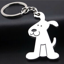 Cute Smooth Dog Puppy Metal Keychain Keyring Keyfob Key Ring Car Key Bag Ring