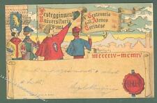 V° CENTENARIO UNIVERSITA' DI TORINO. Cartolina d'epoca viaggiata nel 1904.