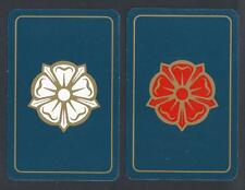 #915.537 vintage swap card -EXC pair- Tudor Rose with gold highlights