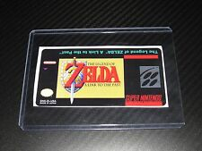 Zelda a Link to the Past Snes Cartridge Replacement Game Label Sticker Precut