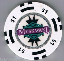 Meskwaki Indian Owned $1.00 Casino Chip Black Insets Tama, Iowa