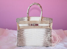 NEW HERMES 30 BLANC HIMALAYAN BIRKIN HIMALAYA WHITE CROCODILE BAG KELLY RECEIPT
