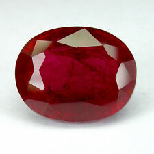 10.56cts. PIGEON BLOOD RED RUBY ANTIQUE OVAL LOOSE GEMSTONE ovale rubis rouge