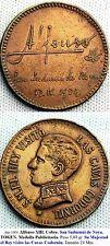 Año 1904 Alfonso XIII. Cobre. Alfonso XIII. Cobre. San Sadurnui de Noya.