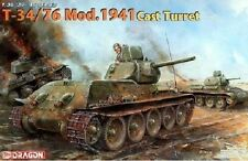 Dragon 1/35 6418 T-34/76 Russian Tank Mod.1941 Cast Tur Model Kit/Maquette TDD50