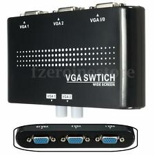 2 Port Way VGA/SVGA Manual Switch Box Splitter Two Sources to One Monitor For PC