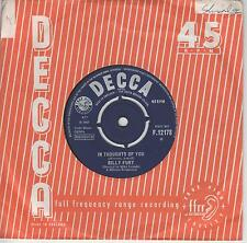 """BILLY FURY - In Thoughts Of You - 1965 UK Decca 2-track 7"""" vinyl single - £9.99"""