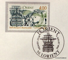 LORIENT  FRANCE Yt 2765 OBLITERATION 1er JOUR  NOTICE PHILATELIQUE