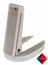 1911 Mag-Well Mainspring Housing Gov Checkered Stainless Matte