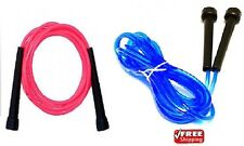 2 x Skipping Jumping Jump Rope GymExercise Workout CrossFit MMA Boxing Pink&Blue
