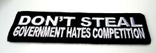 P1 Don't Steal Because.......Funny Humour Iron Patch Motorcycle Laugh Biker