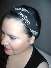 HANDMADE Oakland Raiders Black Women Headband Hair Accessory Hair Band W/Elastic