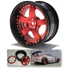 RC 1/10 Aluminum Wheels Rims w/ screw For HPI Kyosho On Road Drift Car (2pcs)