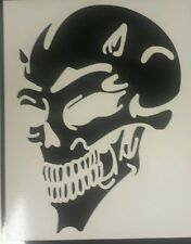 Devil Skull - Black revs- Car Van Window Vinyl graphics sticker Decal Tribal