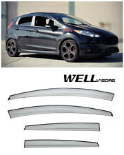 WELLVISORS Side Window Visors Aerodyn Series For Ford Fiesta Hatchback 2011-2017