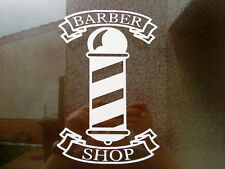 barber pole shop sign window mirrors doors salon barbers vinyl sticker decal fun