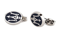 Maserati cufflinks Car logo Mens jewelry Silver Cuff links Wedding gift Designer