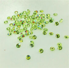 200Pcgreen AB Crystal Birthstones Floating Charm for Glass Living Memory Locket