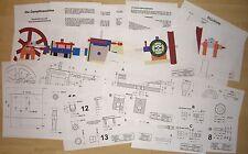 Bauplan für eine Dampfmaschine, 69 Seiten, teilweise farbig