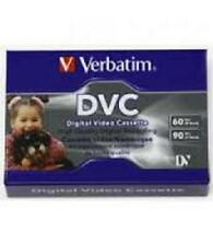 4 x VERBATIM DVC Digital Video Cassette 60 90 Min Mini DV Twin Pack