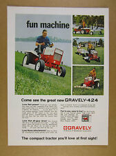 1968 Gravely 424 Tractor mower attachments 4x color photo vintage print Ad