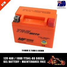 Motorcycle YTX4LBS Motorcycle GEL Battery 12V 4AH 50CCA - 114mm x 71mm x 86mm