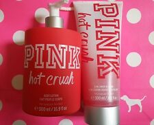 NEW Victoria's Secret PINK HOT CRUSH Body Lotion and 2 in 1 Wash & Scrub Great