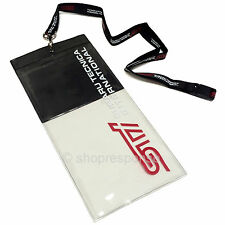 STi Lanyard Keychain Key Holder Keyring Credential Case Neck Strap Black Genuine