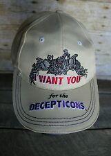 VTG Style Hasbro Transformers Promo Decepticon Ball Cap Adjustable Hat 2013 NOS