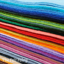 Wool Blend 9 INCH Felt Squares * Any 20 from 68 Colours