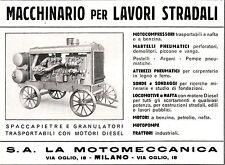 PUBBLICITA' LA  MOTOMECCANICA S.A. LAVORI STRADALI SPACCAPIETRE GRANULATORE 40