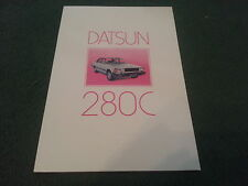 January 1981 DATSUN 280C SALOON & ESTATE - UK 16 PAGE COLOUR BROCHURE Cedric