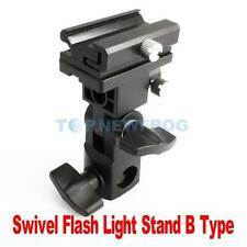 Flash Hot Shoe Adapter Trigger Umbrella Holder Swivel Light Stand Bracket B TN2F