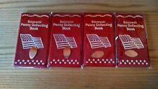 4 Brand New Souvenir Penny Books For Elongated Cents & 4 FREE PRESSED PENNIES!