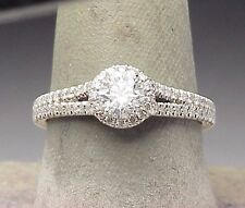 Halo 1.15 ct. F VS Platinum Diamond Engagement Estate Ring