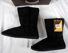 "NIB USA Dawgs 9"" Microfiber Faux Shearling Lined Boots 7 UK 37 Girl's 5"