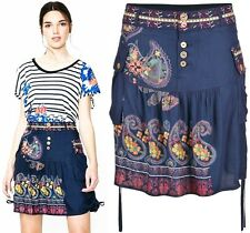 Desigual Praga Jupe Skirt Celebrity Navy Beach Dress - LARGE (L) UK 14 EU 40