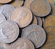 Lot Of Eight Different British Vintage Half Penny Coins