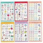 5 Sheet Lovely Paper Stickers for Diary Scrapbook Book Wall Phone Decor DIY
