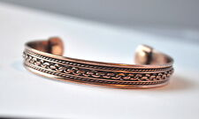 COPPER BANGLE WITH MAGNET AT EACH END ARTHRITIS PAIN RELIEF  B7