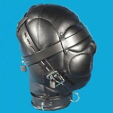 Fetish Bondage Gimp Hood Sensory Deprivation Hood Mask Faux Leather smab11b